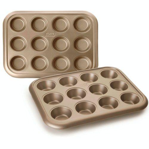 Molde de acero muffin 12 cavidades Golden Class Ibili