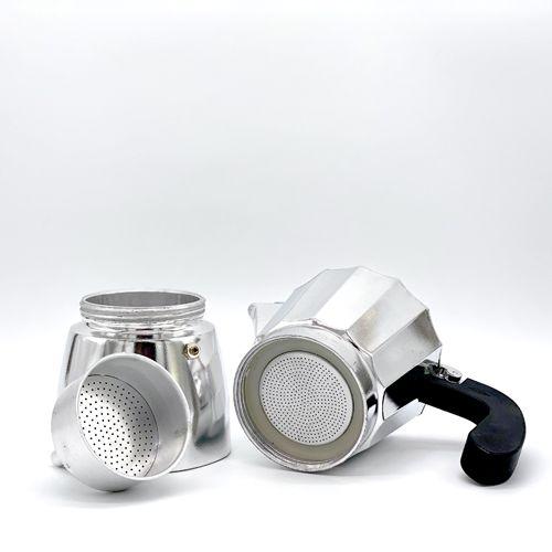 Cafetera italiana de aluminio del fabricante oroley
