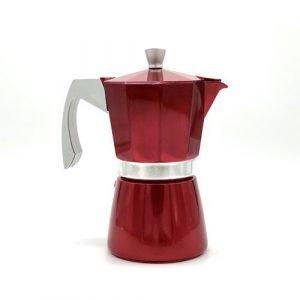 Cafetera Italian de inducción color rojo