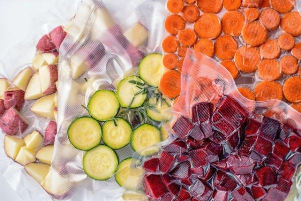 envasar verduras al vacío con envasadora