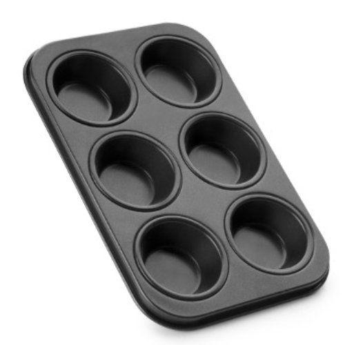 Molde de acero para muffin, 6 cavidades