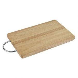 Tabla de cocina de madera con asa cromada