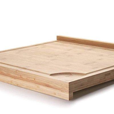 Tabla de cocina de bambú reversible