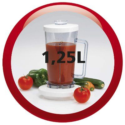 vaso batidor moulinex 1,25 litros