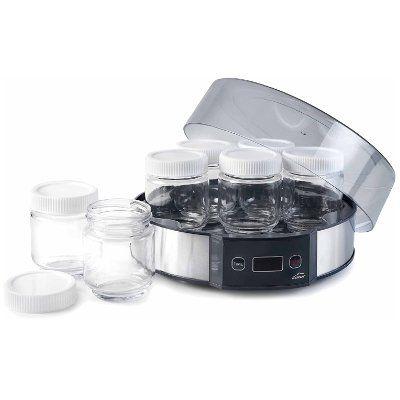 yogurtera Lacor para 7 yogures con tarros de cristal