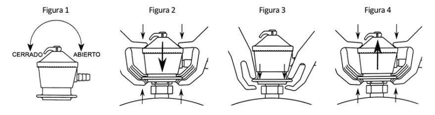 como conectar el regulador a la botella de gas
