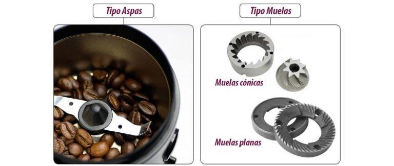 Componentes de un molinillo de café